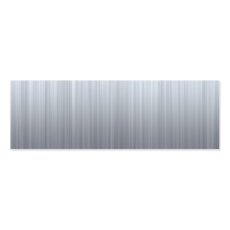 Stainless Steel with Hazard Stripes Business Card