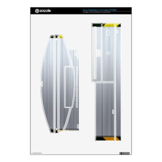 Stainless Steel with Hazard Stripes Decals For PS3