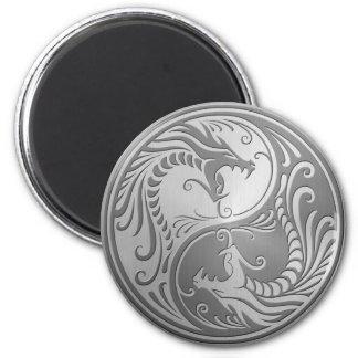 Stainless Steel Yin Yang Dragons Fridge Magnets