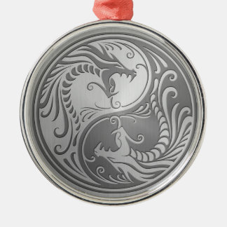 Stainless Steel Yin Yang Dragons Ornaments