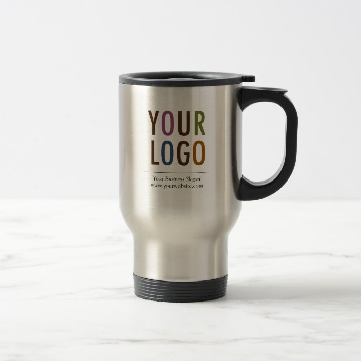 Stainless Travel Mug With Company Logo