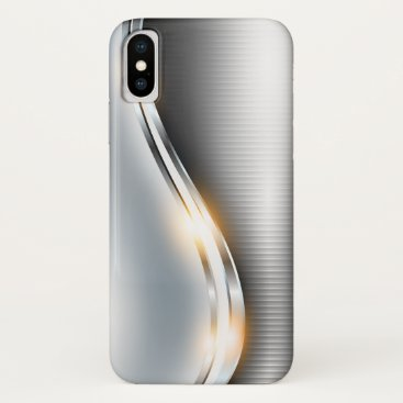 Stainless Wave Design - All Devices - Customize iPhone XS Case