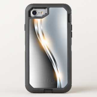 Stainless Wave Design OtterBox Defender iPhone 7 Case