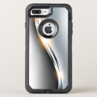 Stainless Wave Design OtterBox Defender iPhone 8 Plus/7 Plus Case