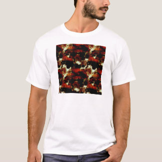 Stains in Red and Black T-Shirt