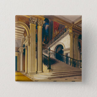 Stair Case, Buckingham House, from 'The History of Pinback Button