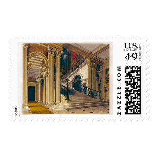 Stair Case, Buckingham House, from 'The History of Postage