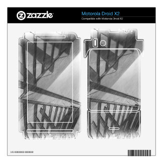 Stair drawing motorola droid x2 skin