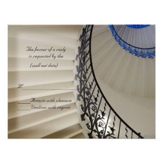 stair rsvp personalized invitation