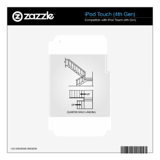 Stair with quarter space landing skins for iPod touch 4G