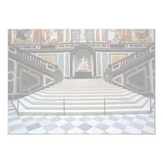 Staircase, Herrenchiemsea Castle, Bayern, Germany 5x7 Paper Invitation Card