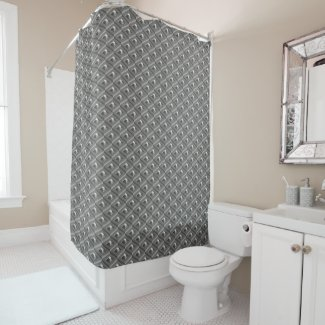 Staircase in Stairs pattern Shower Curtain