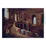 Staircase In The Castle Of Caprarola By Robert Hub Card