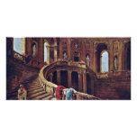 Staircase In The Castle Of Caprarola By Robert Hub Photo Cards