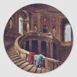 Staircase In The Castle Of Caprarola By Robert Hub Sticker