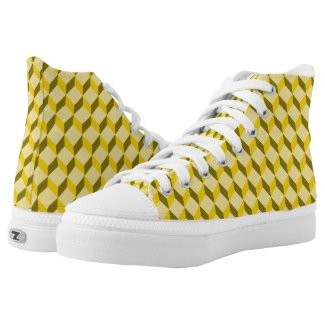 staircase pattern High-Top sneakers