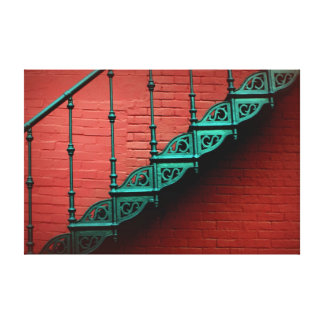 """""""Stairing"""" at a Red Wall Canvas Print"""