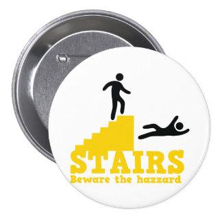 Stairs Beware the Hazzard! Pin