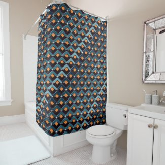 Stairs in Stairs pattern Altona Shower Curtain