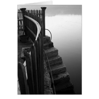Stairs in the Mist Greeting Card