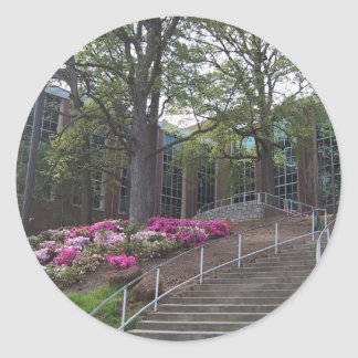 Stairs Leading Towards The Bio-Medical Building At Classic Round Sticker