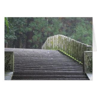 Stairs on Mt. Kurama Greeting Card