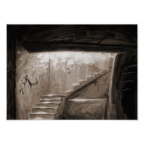 stairs, artsprojekt, miscellaneous, corbie-step, Palais Garnier, corbiestep, Persepolis, crow step, Milan, corbel step, Man of War Bay, step, Dorset, support, England, vertical direction, names, escalator, ladder, elevator, stairlift, moving sidewalk, Cartaz/impressão com design gráfico personalizado