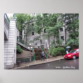 Stairs - Québec City Print