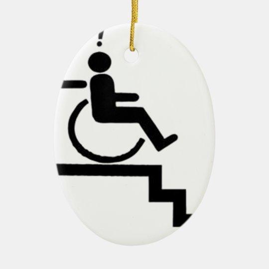 stairs_zazzle.jpeg adorno navideño ovalado de cerámica