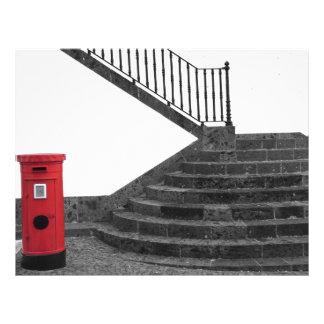 Stairway and post box flyer