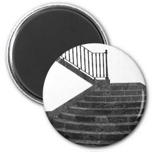 Stairway and post box fridge magnets