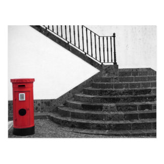 Stairway and post box postcard