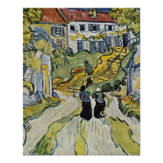 Stairway at Auvers by Vincent Willem van Gogh Poster