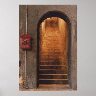 Stairway exit print