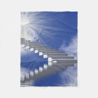 stairway fleece blanket