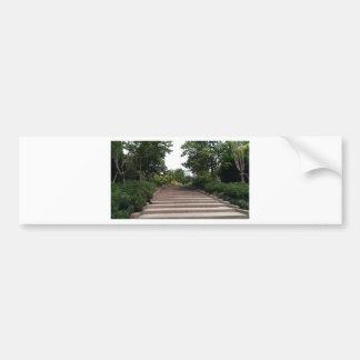 Stairway in the park bumper sticker