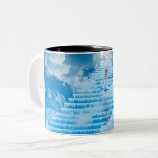 Stairway of learning Two-Tone coffee mug