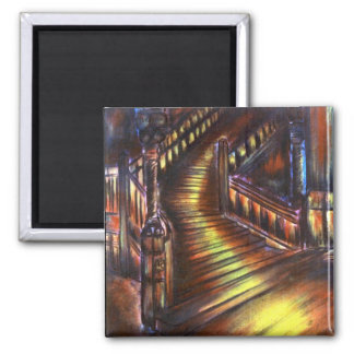 Stairway of Light 2 Inch Square Magnet