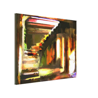 Stairway to an Empty Basement Canvas Print