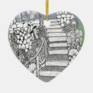 Stairway to Heaven Ceramic Ornament
