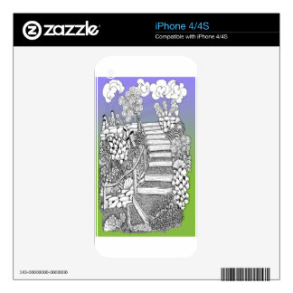 Stairway to Heaven Decals For iPhone 4S