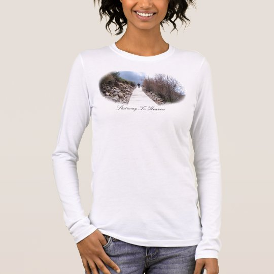 Stairway To Heaven Ladies Long Sleeve (Fitted) Long Sleeve T-Shirt