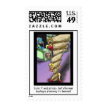Stairway To Heaven Parody Cartoon Postage Stamps Stamps