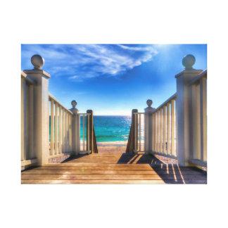 Stairway To Heaven Scenic Ocean Beach Canvas Print