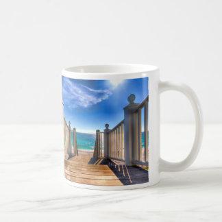 Stairway To Heaven Scenic Ocean Beach Coffee Mug