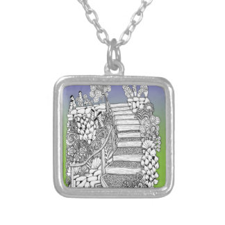 Stairway to Heaven silver gold pendant