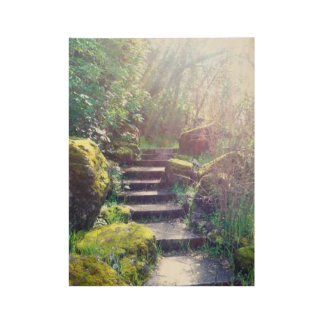 Stairway to Heaven Wood Poster