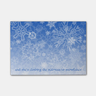 Stairway to Snowflakes Script Post-it® Notes