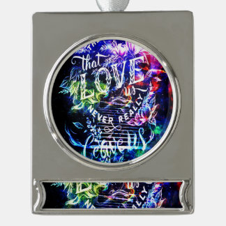Stairway to the Ones that Love Us Silver Plated Banner Ornament