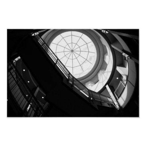 Stairwell and Spiderweb Skylight Poster